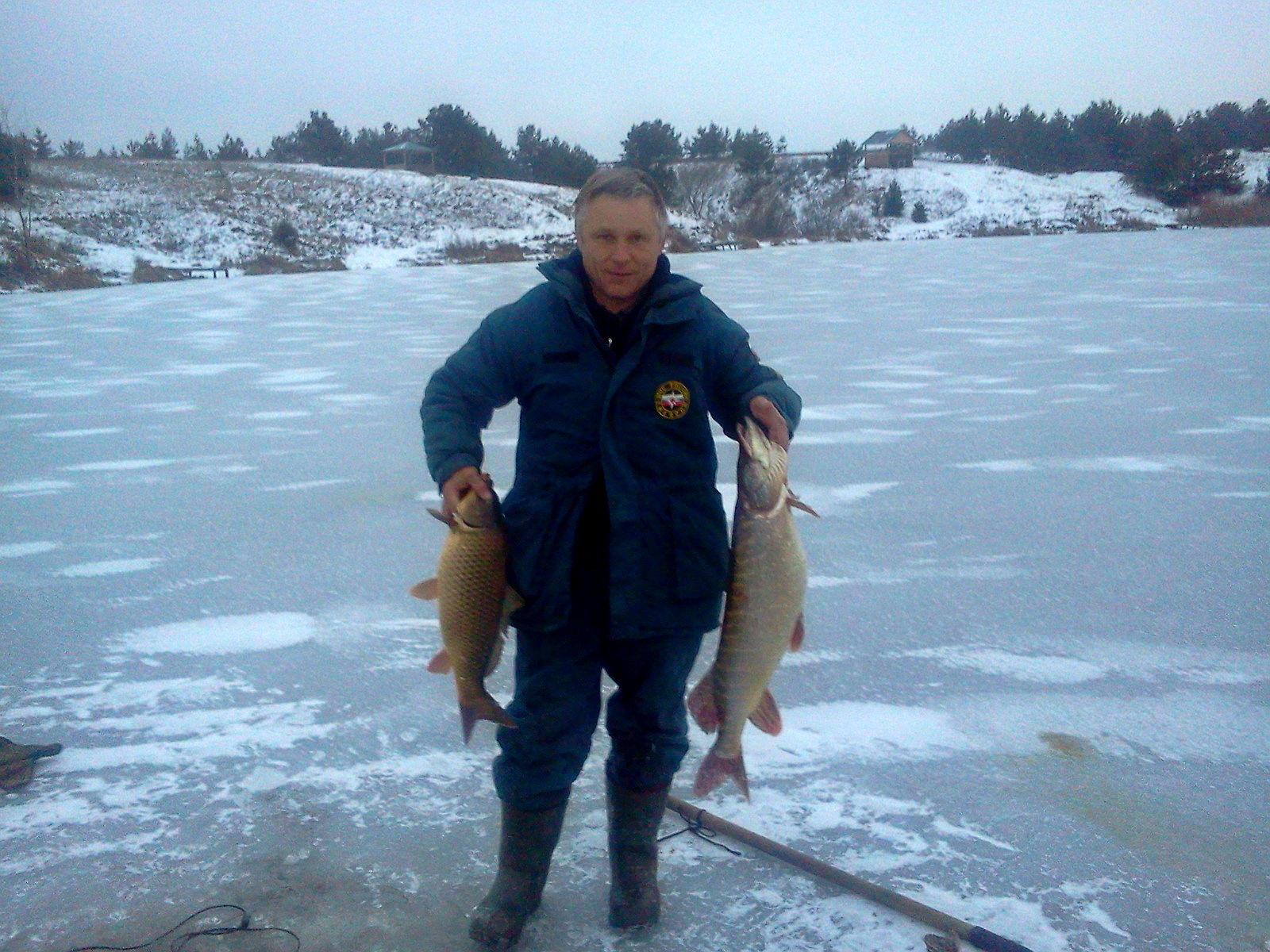 Зима, рыбалка
